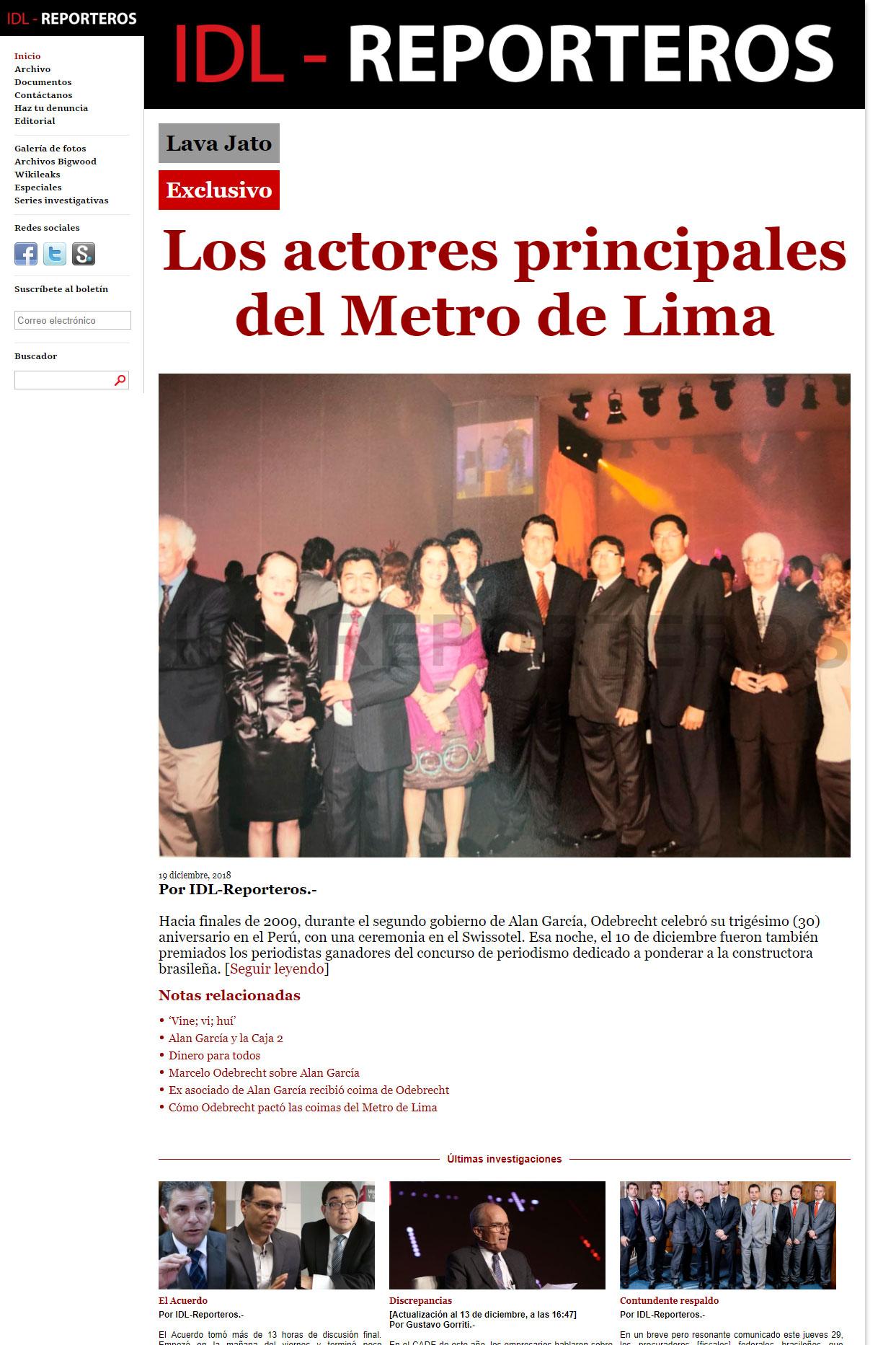 IDL - Reporteros